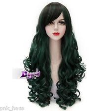 Gothic Lolita Cosplay perücken 80cm Wig Halloween Harajuku Grün Mädchen Stylish