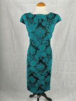 Ladies Dress Size 16 LINEA Real Lace Effect Wiggle Party Evening Wedding