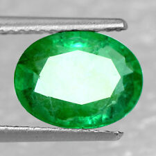 2.08 Cts Natural Top Real Green Emerald Loose Gemstone Oval Cut Untreated Zambia