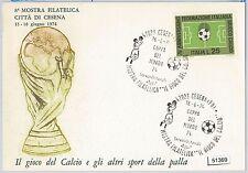 CARTOLINA d'Epoca - RAVENNA provincia :    CESENA mostra filitalica CALCIO 1974