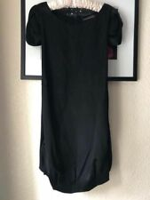 Alexander McQueen Fall 2008 Black Silk Bubble Hem Dress 6-8 38-40