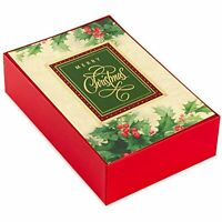 NEW 40 Christmas Cards Holiday Holly Boxed Cards with Envelopes Navidad, Xmas
