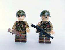 2 minifigures ww2 US Paratrooper 101st soldier gun garand compatibile lego wwII