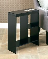 Small End Table Slim Side Tables Drink Holder Storage Dorm Room Accent Furniture