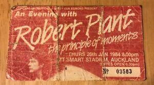 ROBERT PLANT Led Zeppelin 1984 Principle Of Moments Concert Ticket Stub