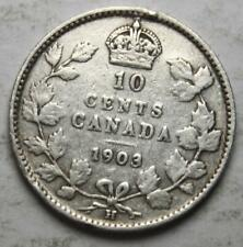 Canada 1903H Silver 10 Cents, Old Date King Edward VII, (23h)