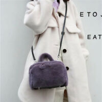 Women Solid Full-pelt Mink Fur Handbags Sweet Lady Crossbody Bag / Shoulder Bag