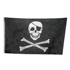 HOT 3x5FT Skull and Cross Bone Sword Jolly Roger Pirate Flag Halloween Decor