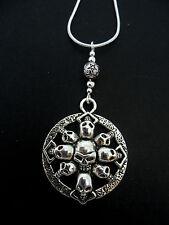 Una de plata tibetana Skull Collar. Goth. Nuevo.