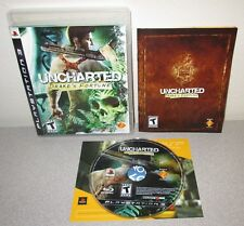 UNCHARTED Drake's Fortune PlayStation 3 w/Manual Naughty Dog Essential Adventure
