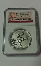 2013 Canada S$10 Year Of The Snake Sp 70