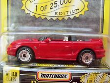 "1995 MATCHBOX ""PREMIERE COLLECTION"" SERIES 2 - FORD MUSTANG COBRA SVT - 1/64"