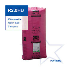 R2.0 HD | 430mm Pink Batts® Acoustic Glasswool Wall Insulation