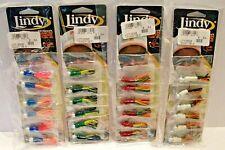 Lot of 24 -Bill Dance Lindy Dancin' Crappie Tube Fishing Jigs- 1/8 oz. & 1/16 oz