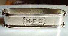 Antique Hand Hammered Oval Sterling Silver Napkin Ring Meg