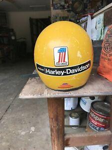 Vintage  Harley Davidson Motorcycle Helmet  Size large ? amf number one chopper