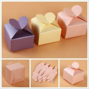 50pcs/set Luxury Boxes Wedding Party Favour Sweets Love Heart Candy Gift Favor
