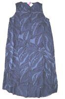 FRESH PRODUCE Large Blue PALM LEAVES ADA Sleeveless Beach Dress $89 NWT New L