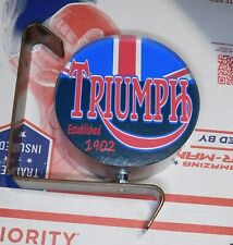 Triumph Motorcycle 2 logo emblem miniature wall post sign USA made