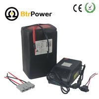 48V30Ah Li-lon Lithium Battery Pack for  Electric Bike 1500W + 5A Charger+BMS