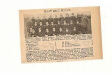 Elgin & Western Military Academy Illinois 1929 Football High School Team Picture