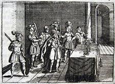 LUDWIG II SCHWÖRT BENEVENT KUPFERSTICH 1698 BENEVENTO LUDOVICO II RE D´ITALIA