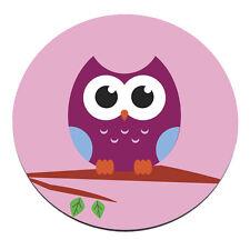 OWL TREE CIRCLE PC Computer Mousemat Mouse Mat Pad Gift Animal Pink Purple Bird
