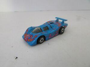MATTEL HOT WHEELS DIECAST RACE CAR BLUE #2  1983 MALAYSIA OPENING REAR HOOD  H2