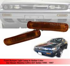 AMBER FRONT BUMPER LIGHT LAMP USE NISSAN MAXIMA CEFIRO A31 SEDAN 1990 - 1997