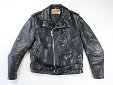 Schott Perfecto Vintage Black Leather Motorcycle Jacket Size 40