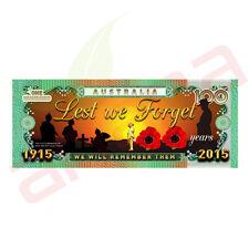 Lest we Forget 100 Years of Anzac - Australian 100 Dollar Novelty Money