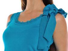 Klassische hüftlange Damenblusen, - tops & -shirts ohne Kragen aus Viskose