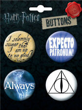 Harry Potter Logos and Symbols Button Four Pack 2