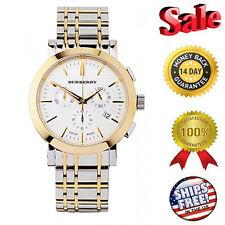 *****NEW Burberry Classic Heritage 2 Tone Steel Bracelet Men's Watch BU1374
