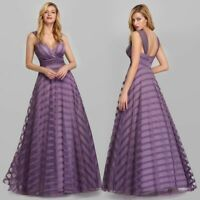 Ever-Pretty A Line V Neck Sleeveless Long Evening Prom Bridesmaid Dresses 07898