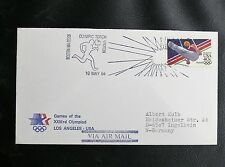 TIMBRES DES USA : OLYMPIC TORCH STATION 10 MAI 1984 - TBE