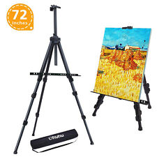 """Ohuhu 48-Pack 72"""" Aluminum Metal Tripod Field Easel with Bag for Table-Top"""