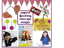 ROALD DAHL/WILLY WONKA Birthday Party Hire Package/Set/Kit-party games, supplies