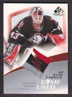 2003-04 SP Game Used Hockey #107 Martin Biron Jersey Buffalo Sabres