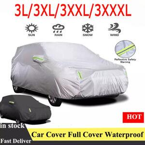 L-XXXL Full Car Cover Outdoor Protector Anti Scratch Dust UV Resistant For Sedan