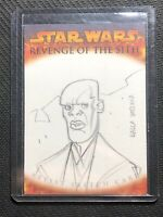 2005 TOPPS STAR WARS REVENGE OF THE SITH ARTIST SKETCH CARD DALLA VECCHIA #8
