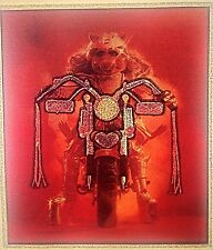 Original Miss Piggy Riding Motorcycle Iron On Transfer Muppets