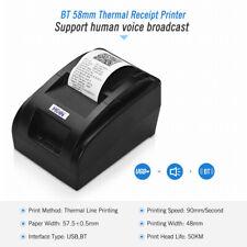 58mm Wireless Bluetooth Thermal Receipt Printer Voice Broadcast ESC / POS C4L0