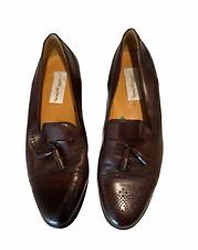 Mezlan Havana Mens burgundy maroon brown tassel dress slip on loafers shoes 11.5