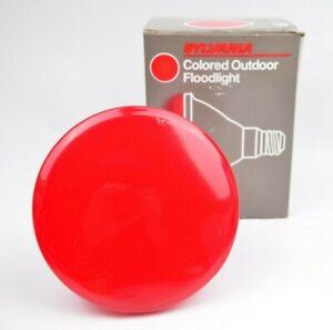 Sylvana 100W Colored Red Outdoor Floodlight Bulb Light USA made