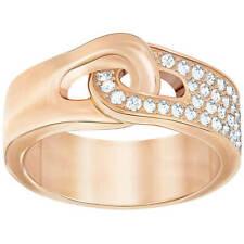 Swarovski para mujer Anillo galón Chapado en Oro Rosa De Cristal Claro, Talla 7 5267322
