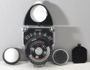 Sekonic Studio Deluxe L-398 exposure meter w case & accessories, tested