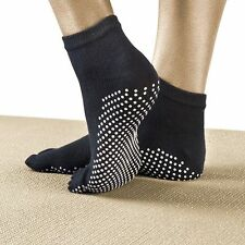 Yoga Socks Non Slip Pilates Massage 5 Toe Socks with Grip Exercise Gym 6 COLOURS