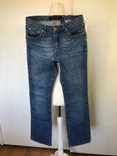 Calvin Klein Womens Blue Jeans Straight Leg Zip Fly Waist 28 Leg 32