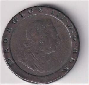 1797 UK LARGE COPPER CARTWHEEL TWOPENCE COIN  M25